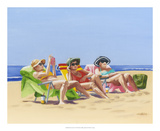 Beach Vacation I Print by Dianne Miller