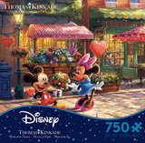 Thomas Kinkade Disney Dreams - Mickey and Minnie Sweetheart Caf50 Piece Jigsaw Puzzle Jigsaw Puzzle