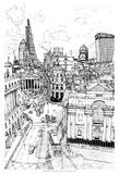 B&W City Scene III Affiches par Melissa Wang