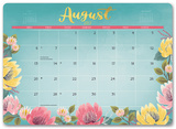Bold Blossoms - 2018 Desk Blotter Calendari