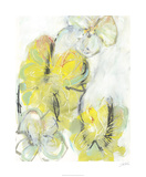 Yellow Floral Abstract II Édition limitée par Jodi Fuchs