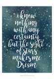 Galaxy Quote II Print by Grace Popp