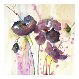 Plum Poppies II Posters by Leticia Herrera