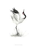 Japanese Cranes I Giclee Print by Naomi McCavitt