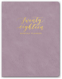 Practically Purple Leatheresque Monthly Planner Kalenders