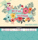 Secret Garden - 2018 Magnetic 17 Month Calendar カレンダー
