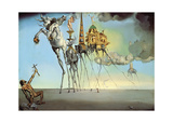 The Temptation of Saint Anthony, 1946 Plakat af Salvador Dali