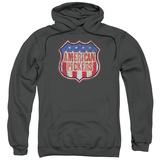 Hoodie: American Pickers- Vintage Logo Shield Pullover Hoodie