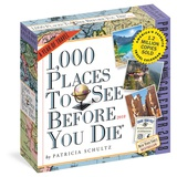 1,000 Places To See Before You Die Color Page-A-Day - 2018 Boxed Calendar Calendários