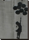 Balloon girl Stretched Canvas Print by  Banksy