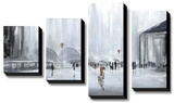 La Gare Canvas Set by Aziz Kadmiri