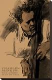 Charles Mingus Sträckt kanvastryck av Clifford Faust