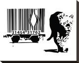 Barcode Trykk på strukket lerret av  Banksy