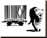 Barcode Stretched Canvas Print by  Banksy