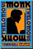Thelonius Monk - Town Hall, NYC 1959 Toile tendue sur châssis par Dennis Loren