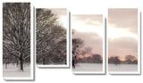 Rosy Sunset Canvas Set by Assaf Frank