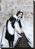 Chamber Maid Stretched Canvas Print by  Banksy
