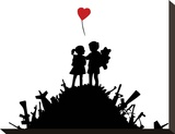 Love Stretched Canvas Print by  Banksy