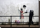 Stop and search Stretched Canvas Print by  Banksy