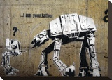 I am your father Stretched Canvas Print by  Banksy
