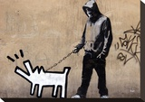 Dog Stretched Canvas Print by  Banksy