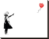 Heart Balloon Stretched Canvas Print by  Banksy