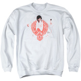 Crewneck Sweatshirt: Elvis - Red Phoenix T-shirts