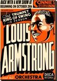 Louis Armstrong - Connie's Inn, NYC 1935 Toile tendue sur châssis par Dennis Loren
