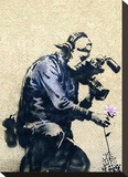 Photographer Flower Stretched Canvas Print by  Banksy