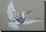 Dove Stretched Canvas Print by  Banksy