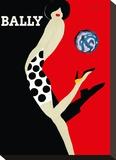 Bally Kick - Bally Shoes Stretched Canvas Print by Bernard Villemot