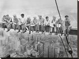 Lunch bovenop een wolkenkrabber, ca.1932 Kunst op gespannen canvas van Charles C. Ebbets