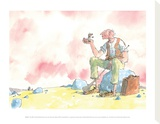 The BFG and Sophie Stretched Canvas Print by Quentin Blake
