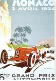 6th Grand Prix Automobile, Monaco, 1934 Stretched Canvas Print by Geo Ham