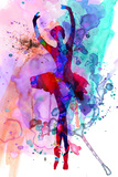 Ballerina's Dance Watercolor 3 Poster di Irina March