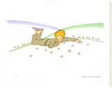 The Little Prince Dreaming (Le Reve) Stretched Canvas Print by Antoine de Saint-Exupéry