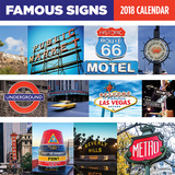 Famous Signs - 2018 Calendar Calendriers