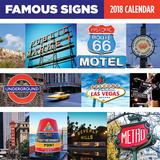 Famous Signs - 2018 Calendar Kalenterit