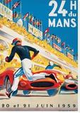 Le Mans 20 et 21 Juin 1959 Stretched Canvas Print by  Beligond