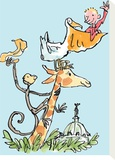 The Giraffe and the Pelly and Me Stretched Canvas Print by Quentin Blake