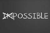 Changing Impossible Into Possible Bedruckte aufgespannte Leinwand von  IJdema