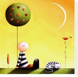 Dreaming Reproducción de lámina sobre lienzo por Jo Parry