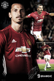 Manchester United - Ibrahimovic Collage Kunstdrucke