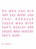 Dr Seuss Quote Pink Stampe di  Indigo Sage Design