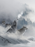 Fantasy Wolf Poster by  Wonderful Dream