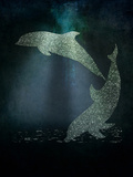 Glitter Dolphins Posters af  Grab My Art