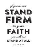 Stand Firm Poster by Dallas Drotz