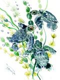 Three Sea Turtles Poster von Suren Nersisyan