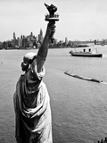Statue Of Liberty And Upper New York Bay 1 Print by HA Dunne