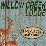 Willow Creek Lodge Poster by Marilu Windvand